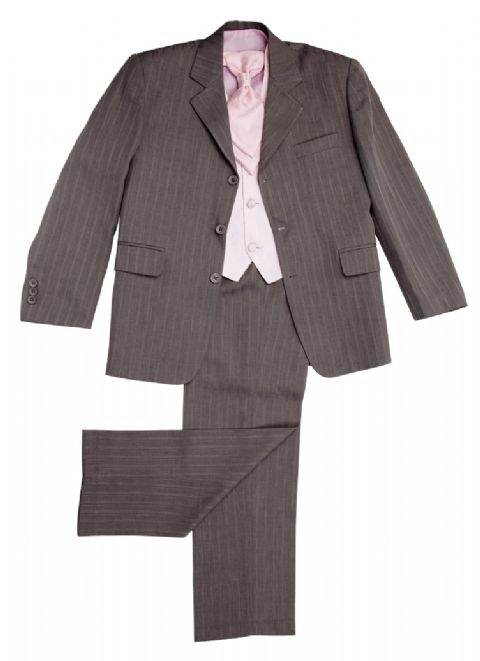 Brampton Grey/Pink~ Boys Suits